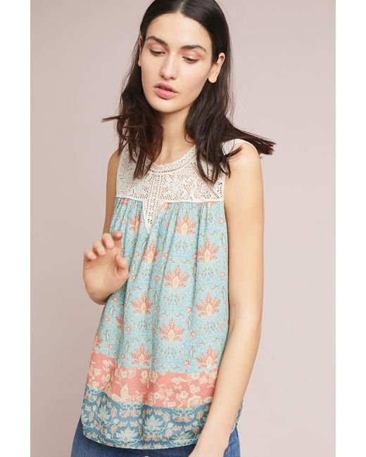 Maeve - Blue Laced Eleanor Blouse - Lyst