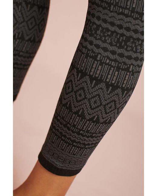Hansel from basel Fair Isle Fleece-lined Tights in Black | Lyst