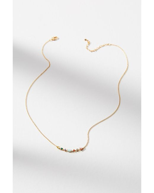 Anthropologie | Blue Delicate Rainbow Necklace | Lyst