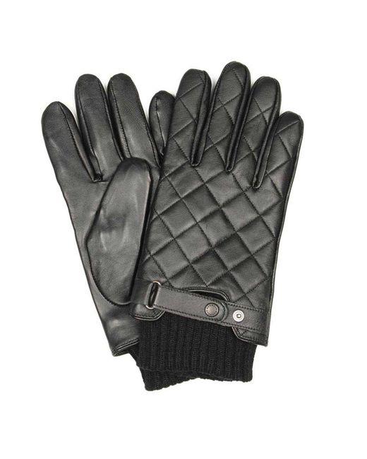 Barbour Black Gloves for men