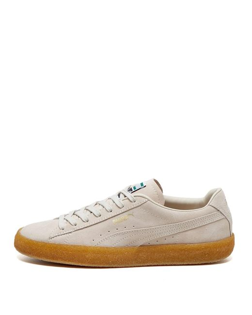 PUMA Natural Suede Crepe Trainers for men