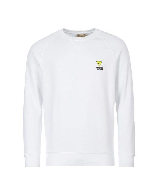Maison Kitsuné White Sweatshirt Triangle Fox for men