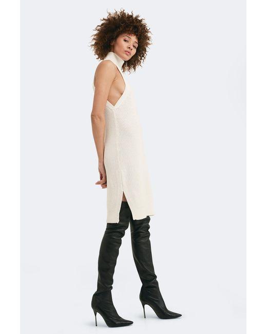 AQ/AQ - White Lazero Knit Sleeveless Dress - Lyst