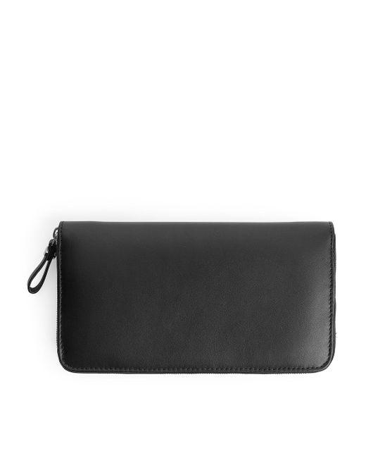 ARKET - Black Leather Wallet - Lyst