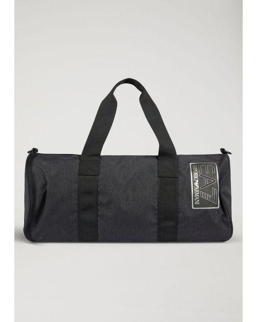 Emporio Armani - Black Gym Bag for Men - Lyst ... dfe175cfe9424