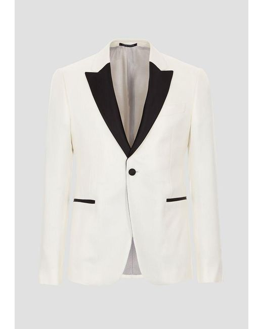 b0f63717 Men's White Tuxedo Jacket