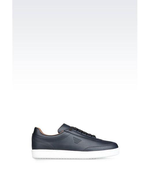 armani jeans trainer in blue for men lyst. Black Bedroom Furniture Sets. Home Design Ideas