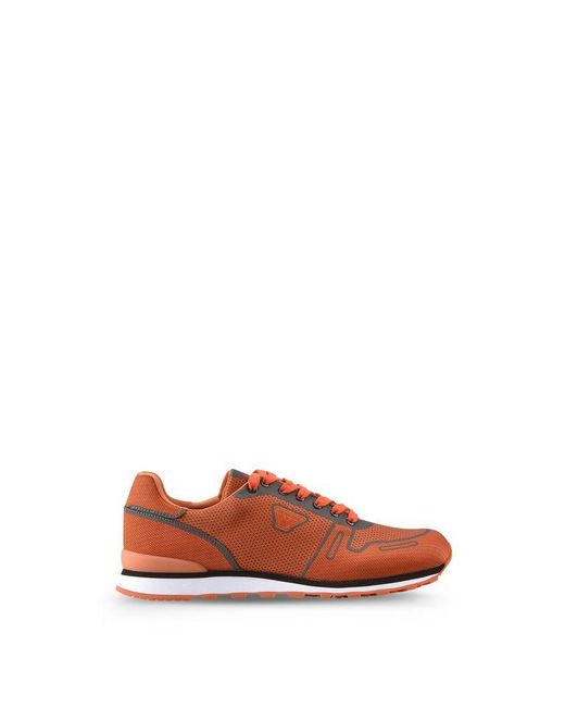 armani jeans sneaker in orange for men lyst. Black Bedroom Furniture Sets. Home Design Ideas