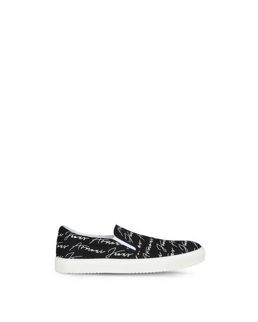Armani Jeans | Black Slip-on Shoes | Lyst