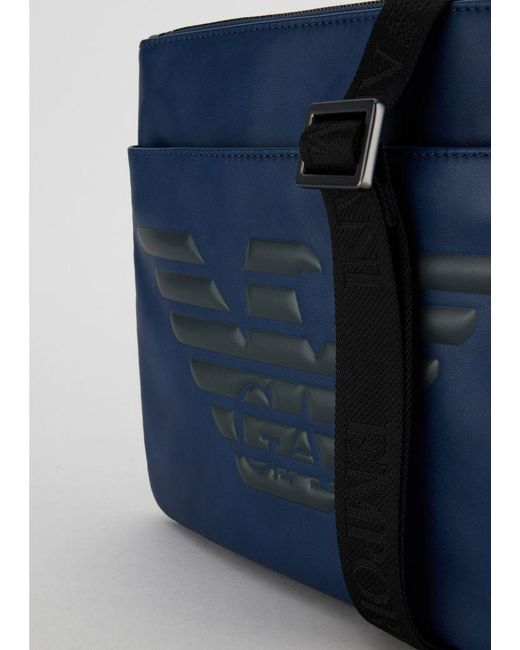 ... Emporio Armani - Blue Crossbody Bag for Men - Lyst ... 6f7cbedfaa6a0