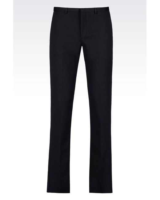 Emporio Armani | Blue Straight Leg Pant for Men | Lyst
