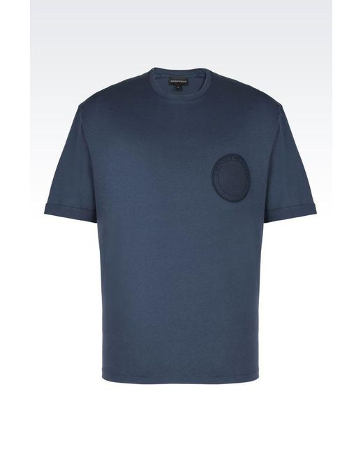 Emporio Armani | Blue Short-sleeve T-shirt for Men | Lyst
