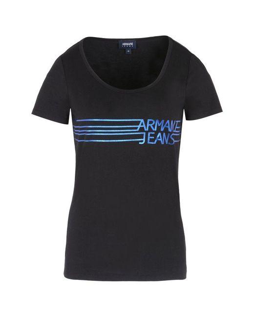 Armani Jeans | Black Print T-shirt | Lyst