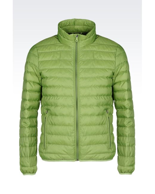 Armani Jeans | Green Down Coat for Men | Lyst