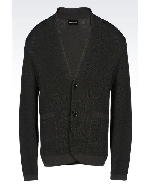 Emporio Armani | Black Two Button Jacket for Men | Lyst