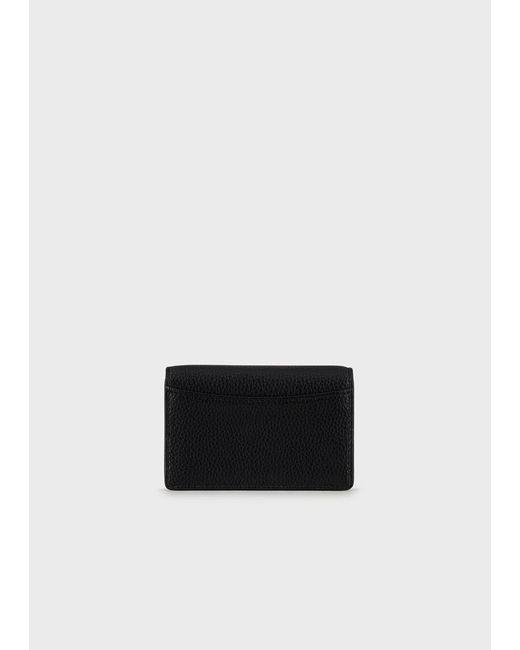 Portacarte stampa cervo con logo serigrafato di Emporio Armani in Black