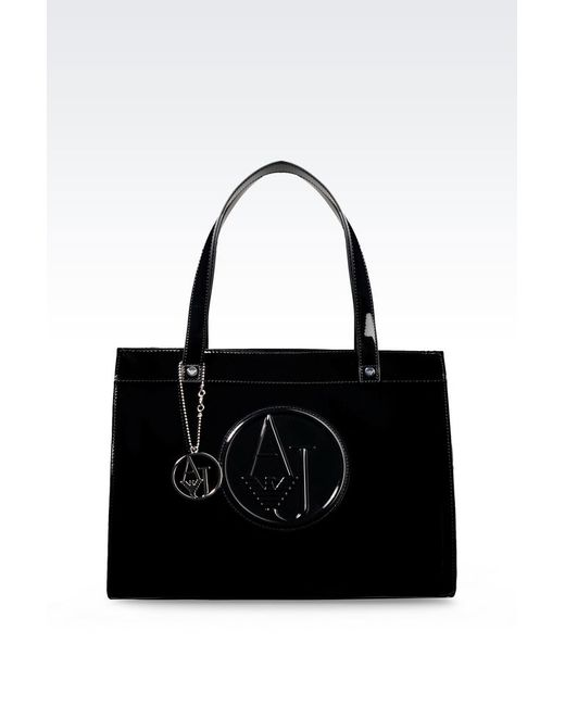 Armani Jeans | Black Shopper | Lyst