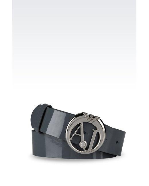 Armani Jeans   Green Textile Belt   Lyst