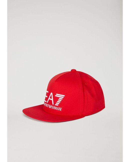 Emporio Armani - Red Cap for Men - Lyst