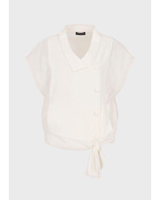Emporio Armani White Blouses