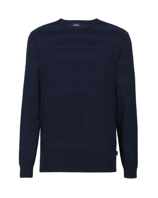 Armani Jeans | Blue Crewneck Sweater for Men | Lyst
