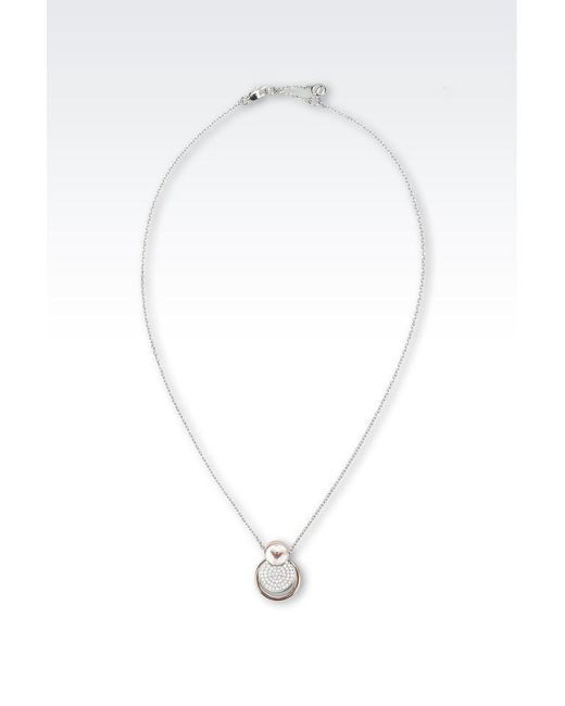 Emporio Armani   Metallic Necklace   Lyst
