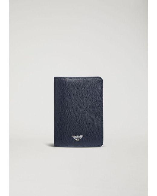 Emporio Armani - Blue Passport Holder for Men - Lyst