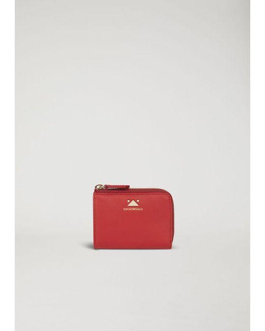 Emporio Armani - Red Wallet - Lyst ... 2f2dba30f7