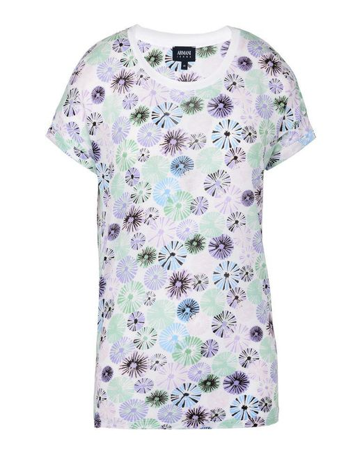 Armani Jeans   Blue Print T-shirt   Lyst