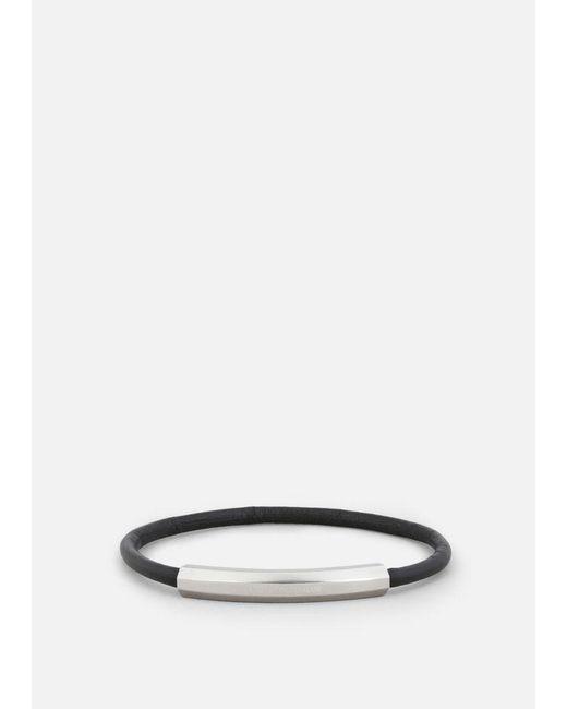 Emporio Armani - Black Bracelet for Men - Lyst