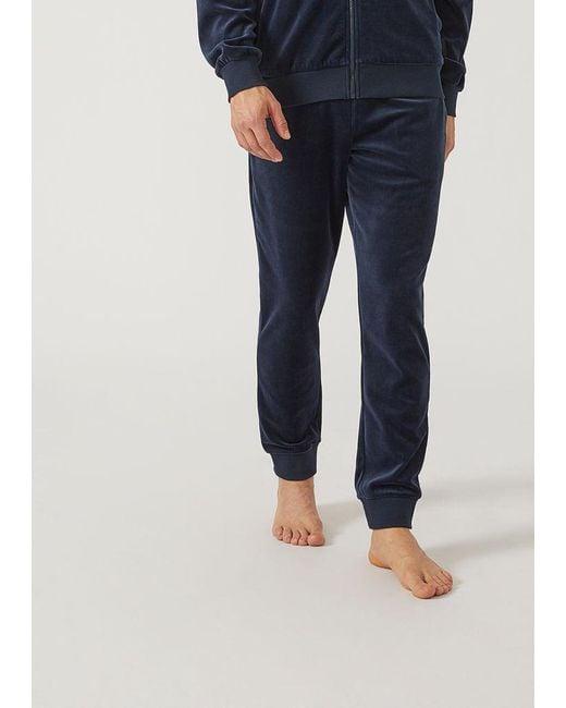 Emporio Armani - Blue Lounge Pants for Men - Lyst