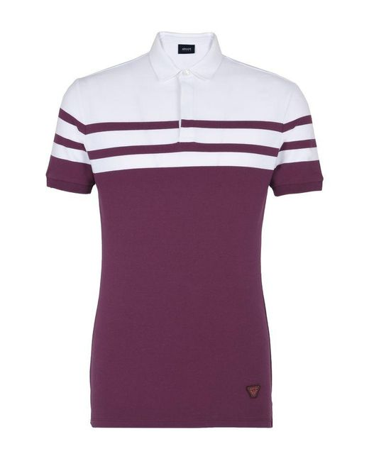 Armani Jeans | Purple Polo Shirt for Men | Lyst