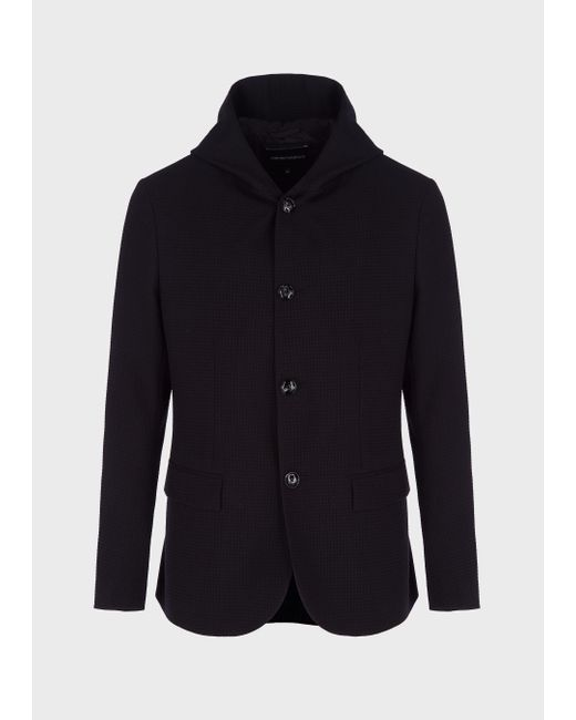 Emporio Armani Black Casual Jackets for men