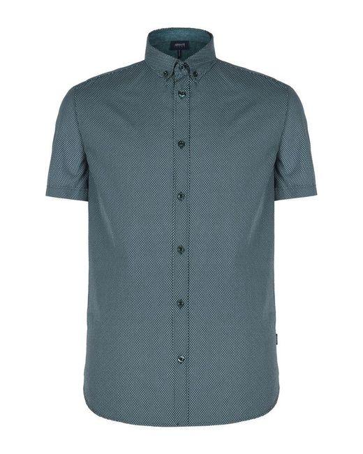 Armani Jeans | Green Short Sleeve Shirt for Men | Lyst
