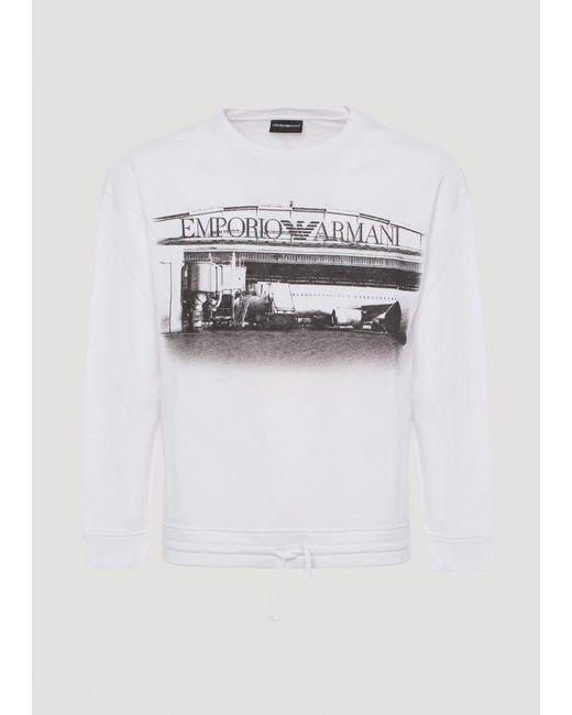 Emporio Armani - White Sweatshirt for Men - Lyst