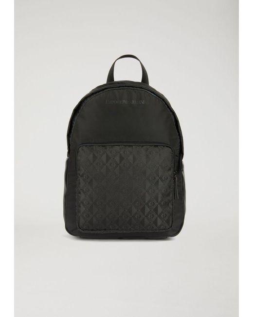 Emporio Armani - Black Backpack for Men - Lyst ... a678debf2cb6b