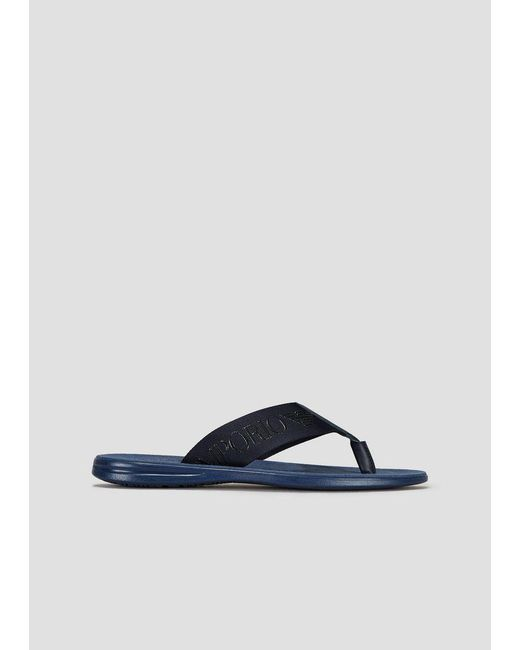 c05bd78ea674 Emporio Armani - Blue Flip-flops for Men - Lyst ...