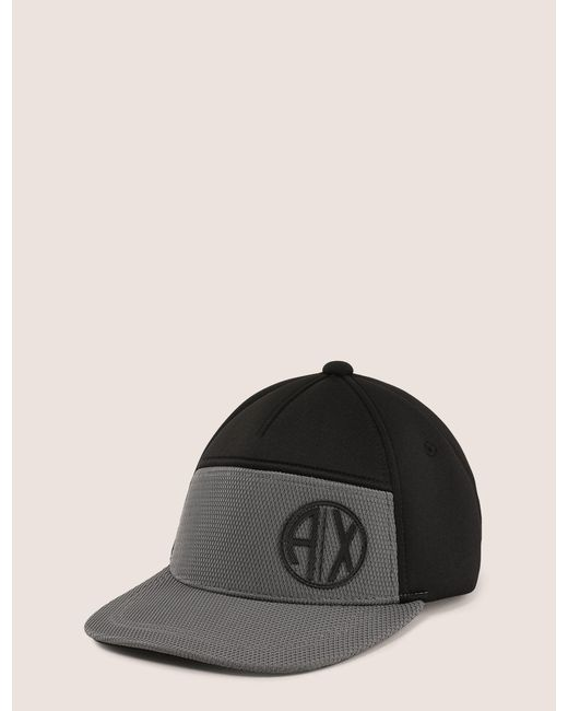 Armani Exchange - Black Colorblocked Circle Logo Hat for Men - Lyst ... aed9ab62a45