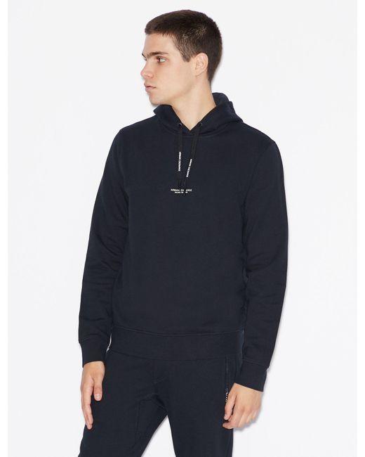 Armani Exchange Blue Hooded Sweatshirt for men