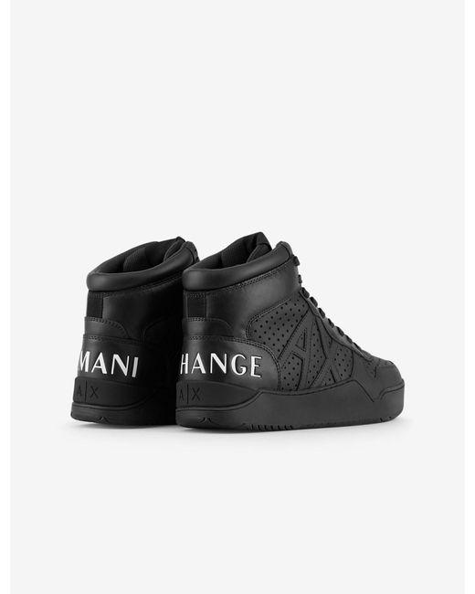 Armani Exchange Leather High-top