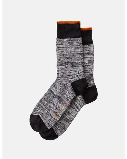 Nudie Jeans Black Nudie Rasmusson Multi Yarn Socks for men