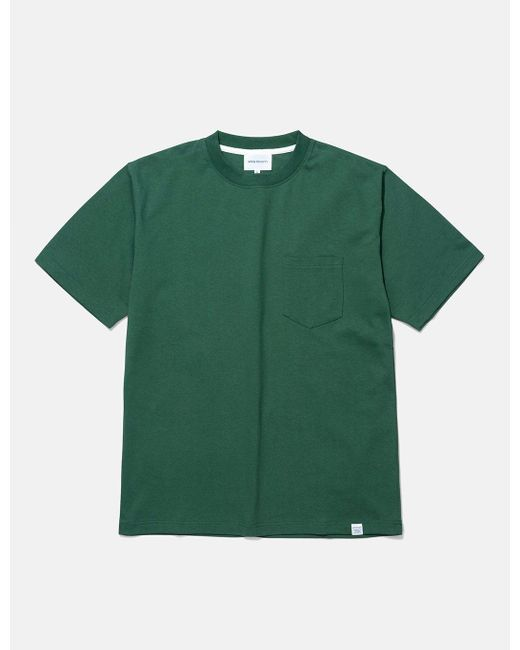 Norse Projects Green Johannes Pocket T-shirt for men