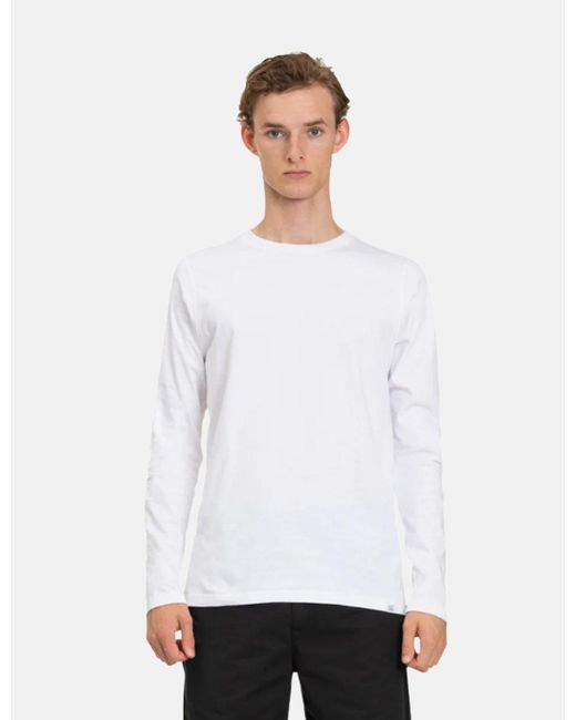 Norse Projects White Niels Long Sleeve T-shirt (organic Cotton) for men
