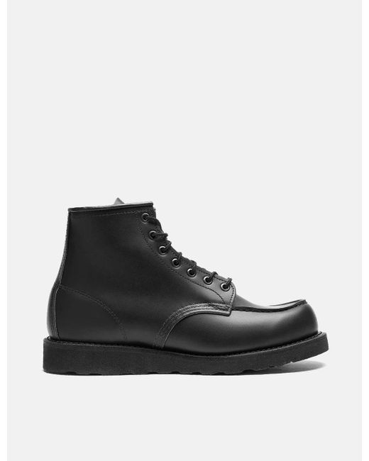 """Red Wing Black Heritage Work 6"""" Moc Toe Boot for men"""