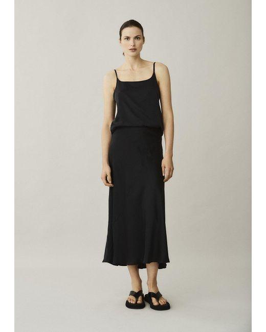 Asceno Berlin Black Silk Slip Skirt