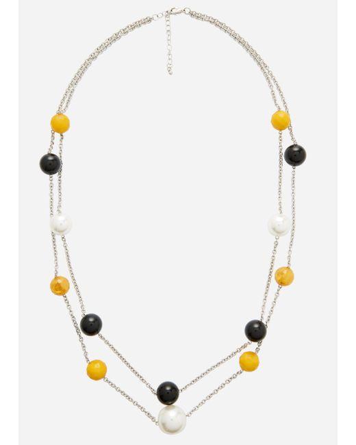 Ashley Stewart - Metallic Plus Size Double Strand Illusion Necklace - Lyst
