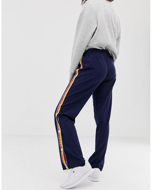 84f130da ... Tommy Hilfiger - Blue Popper Side Track Pants - Lyst