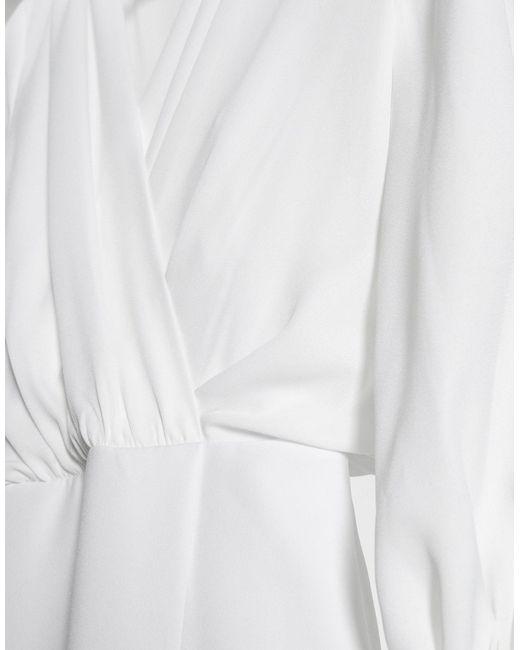 ASOS White – Jumpsuit mit Chiffonoberteil und Blousonärmeln