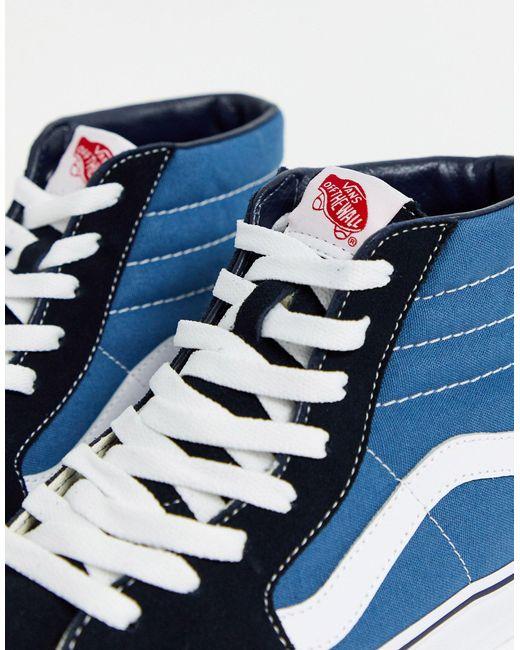 Джинсовые Кроссовки Sk8-hi Reissue – Эксклюзивно Для Asos-голубой Vans для него, цвет: Blue