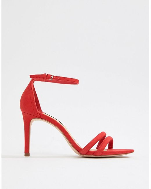 barely there sandal - Red Stradivarius New Arrival Online Clearance Big Discount db92KnYj